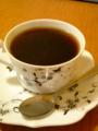 デブサミ昼休み中〜昨日と同じ茶店。この珈琲の量が落ち着く