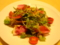 ランチ、ロメインレタスのサラダ。結構たっぷり、うれしい〜
