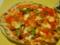ランチの野菜ピザ。さっくり生地がうまかった〜