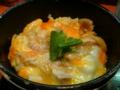 塩親子丼。卵が濃い味でよかった〜隠し味の柚子胡椒も最高☆