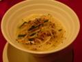 今週のヌードルランチ、海鮮湯麺。麺より、小籠包を撮るべきでした。