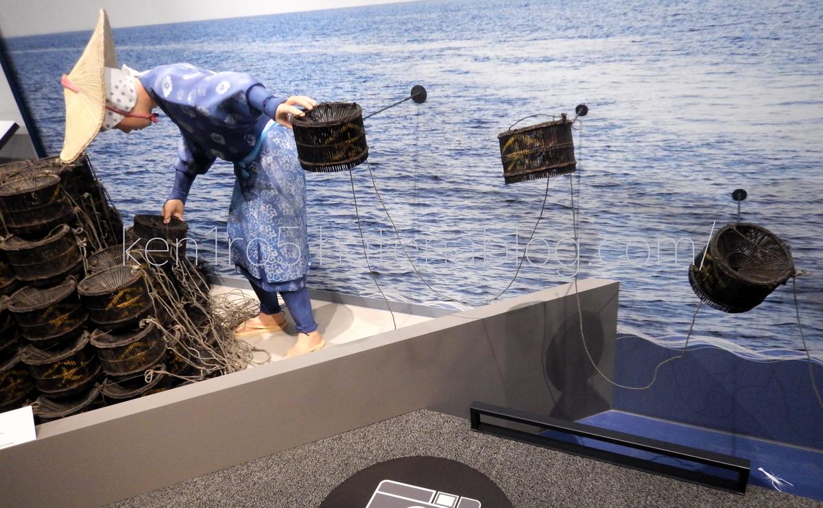 伝統漁法の展示