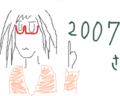 2010年だから2010枚のめがねこの絵を描くよ