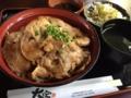 [2015家族沖縄][沖縄][食べ物]アグー豚のしょうが焼き丼