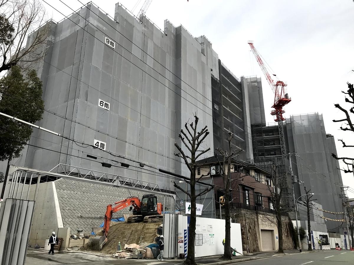 ジオ神戸中山手通建設中