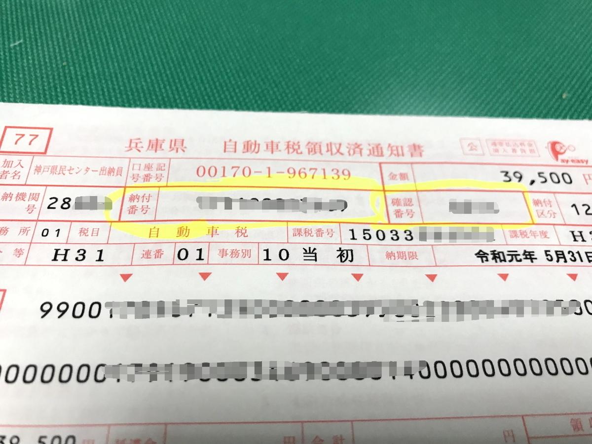 自動車税の納付1