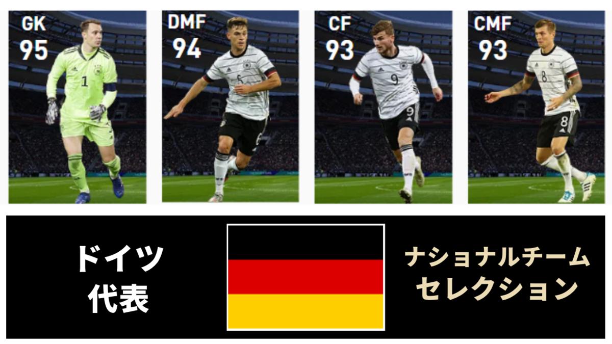 【ウイイレ FP】ドイツ ナショナルチームセレクション  全選手レベマ能力と当たりランキング【NS 6月28日】