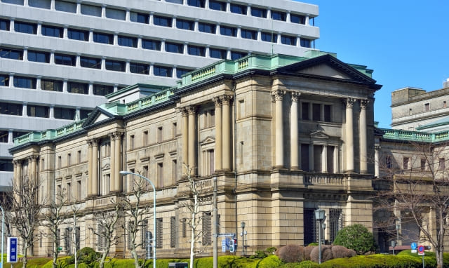 日本の中央銀行である日本銀行本店