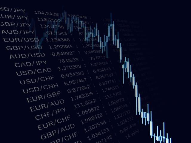 暴落する為替相場のチャート