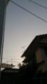 [twitter] 夕焼けではなく、中国からのアレでこんな空の色に('A`)y-~