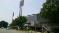 [twitter] 先日熱中症で12人倒れた県立藤崎台野球場(熊本城の外濠内にある)
