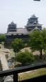 [twitter] 宇土櫓から見る熊本城天守閣