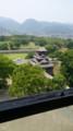 [twitter] 大天守閣から見る宇土櫓