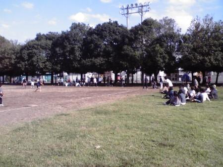 秦野の某所で試合(ソフトボール)20121020