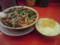 魁力屋の台湾ラーメン+白米(沢庵)
