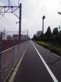 私学事業団総合運動場付近(気温約40℃w)