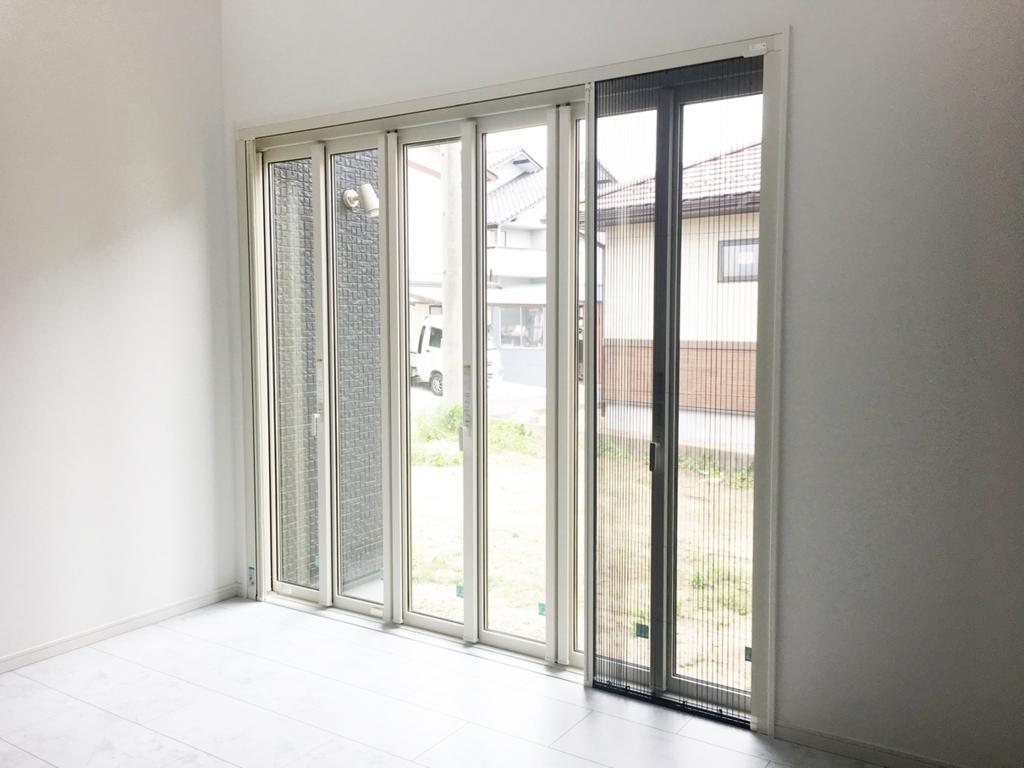 フルオープン窓・網戸付