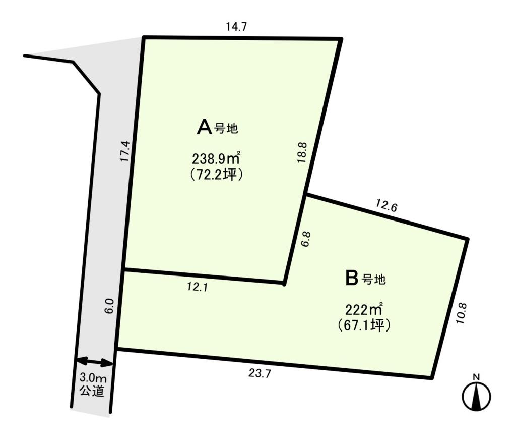 江南市勝佐町 土地の図面