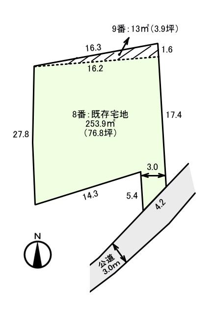 江南市和田町 土地の図面