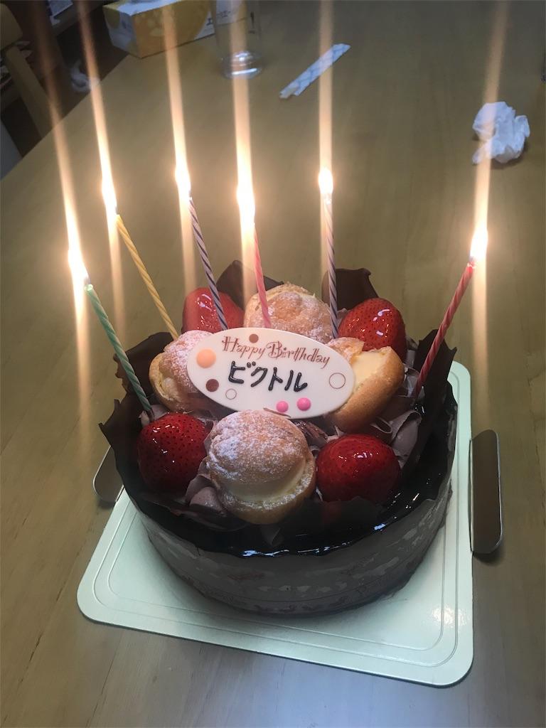 ビクトルさんの誕生日ケーキ