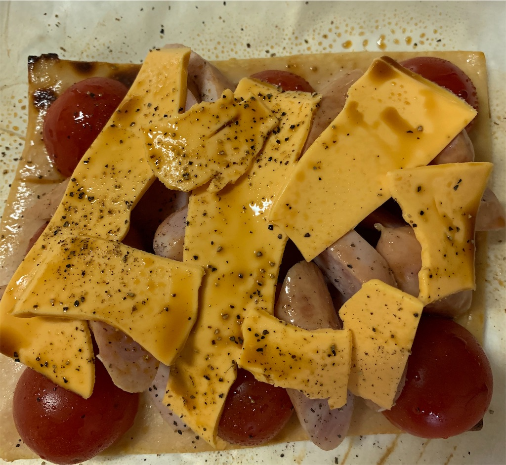 酒粕焼きにチーズを乗せて焼いた