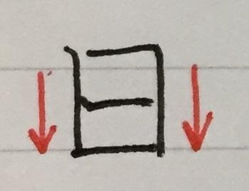 オンスクボールペン字練習 漢字3「日」の縦長と横長の違い