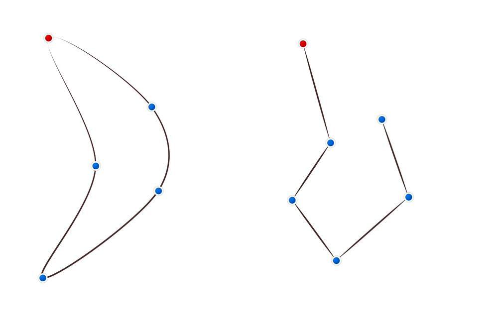 アイビスペイント ベジェ曲線・折れ線