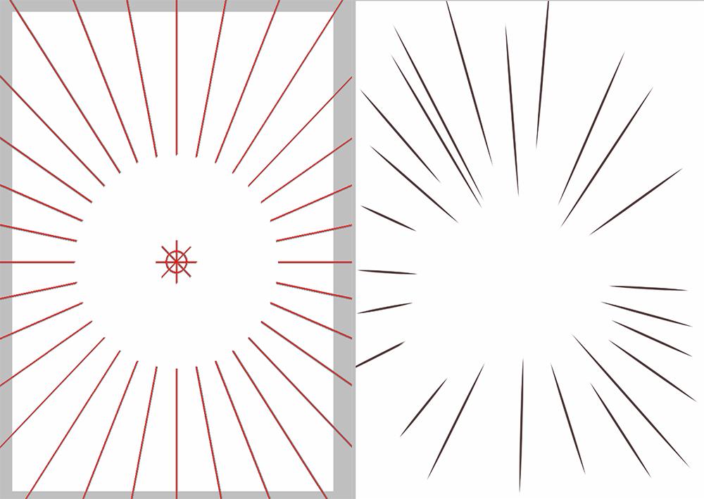 アイビスペイント 集中線定規
