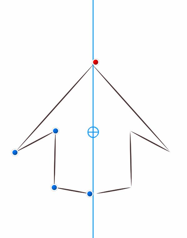 アイビスペイント 線対称定規