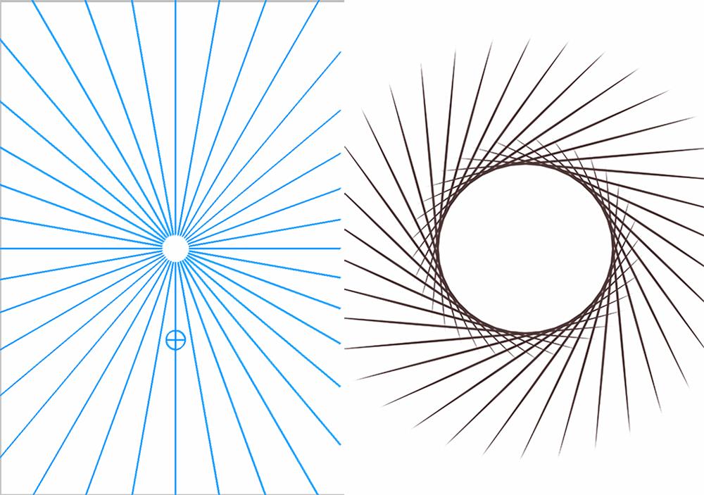アイビスペイント 回転対称定規