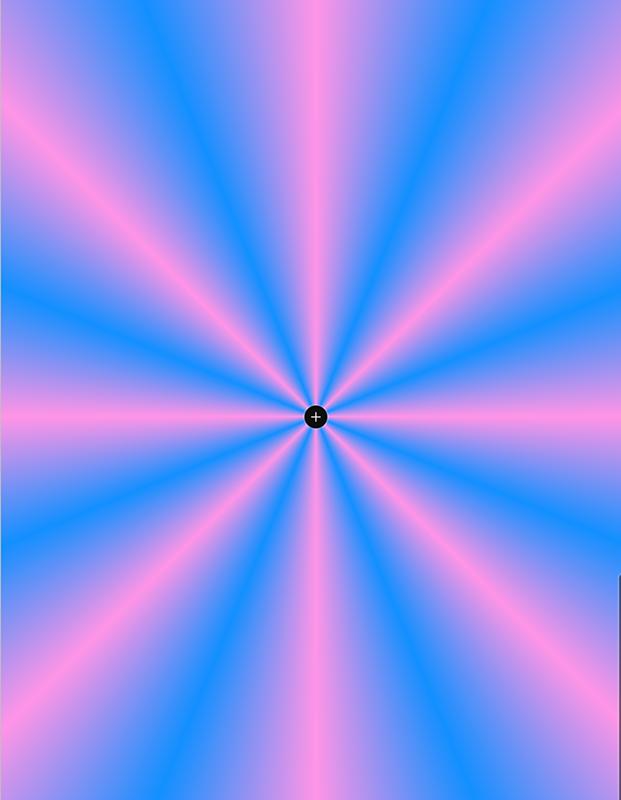 アイビスペイント 放射線波グラデーション
