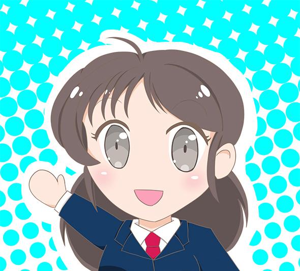 ディフォルメJKちゃん 水玉