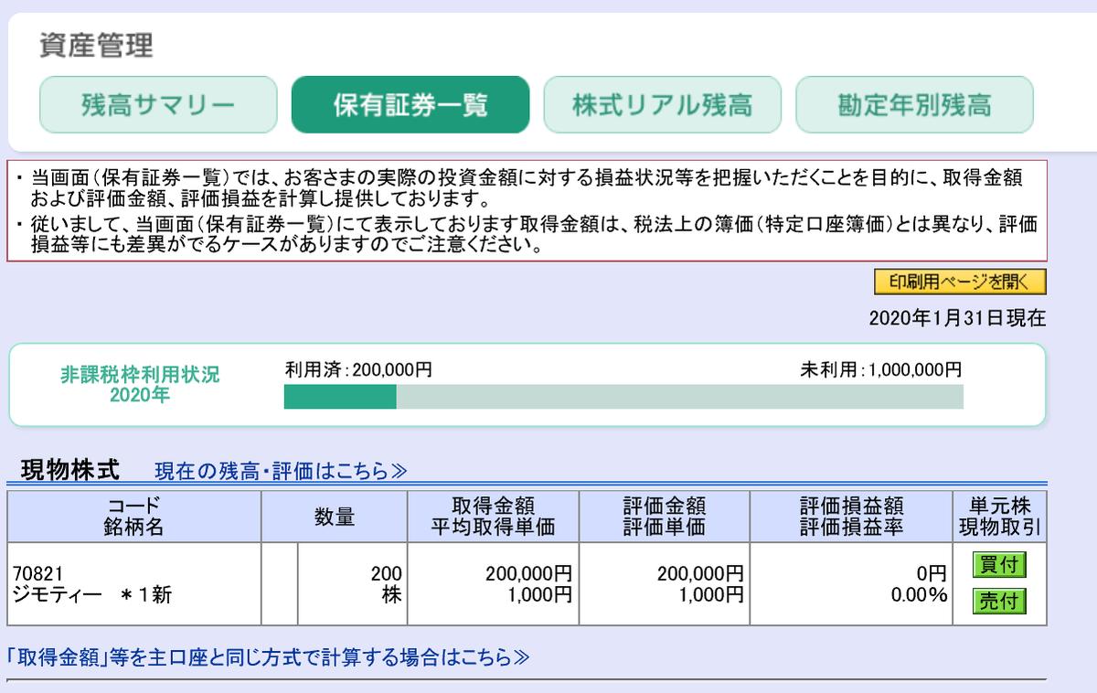 IPO(新規公開株)ジモティー(7082)に当選!