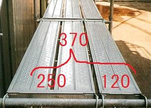 足場の積載荷重 基準