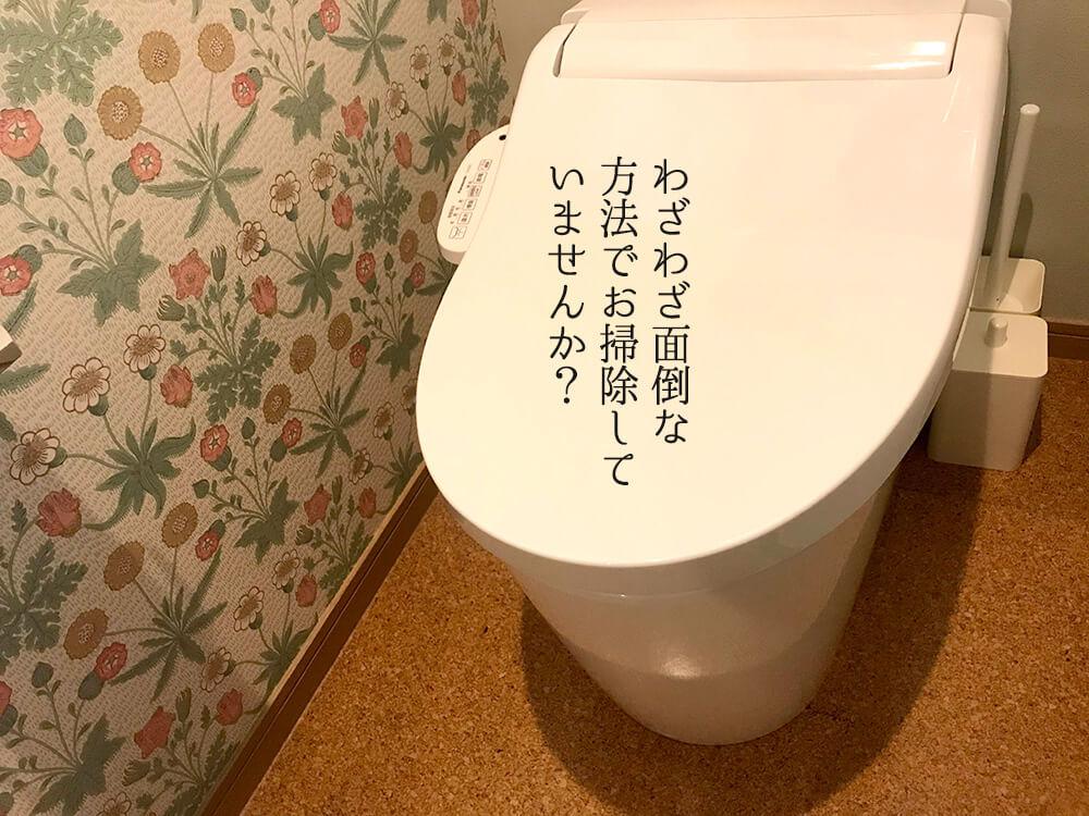 クエン酸パックをしないトイレ掃除1