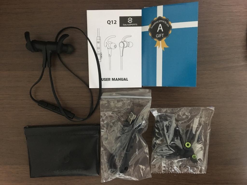 ワイヤレスイヤホン、Bluetooth、イヤホン、サウンドピーツ、Q12、おすすめ