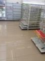 地震の時のコンビニの風景