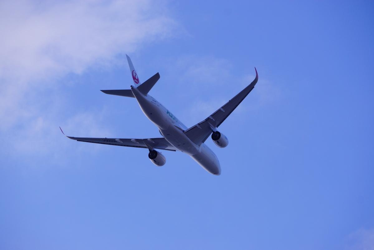 飛行機の写真です