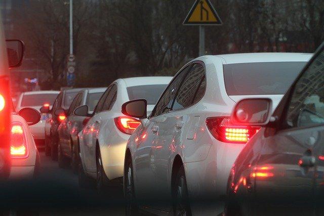 ランタンフェスティバル交通渋滞の写真です