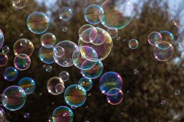ブライダルフェアのバブルシャワー