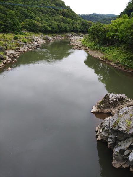 神居古潭の石狩川