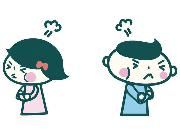 夫婦喧嘩イラスト