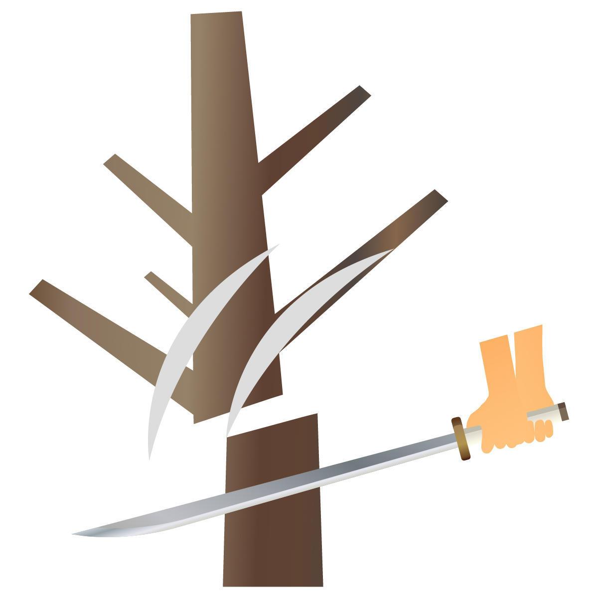 木を切る刀