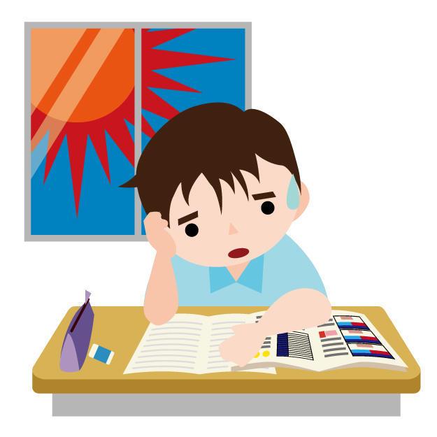 窓際の勉強