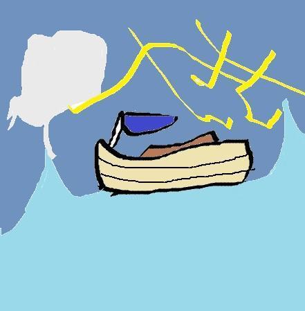 難破しそうな船