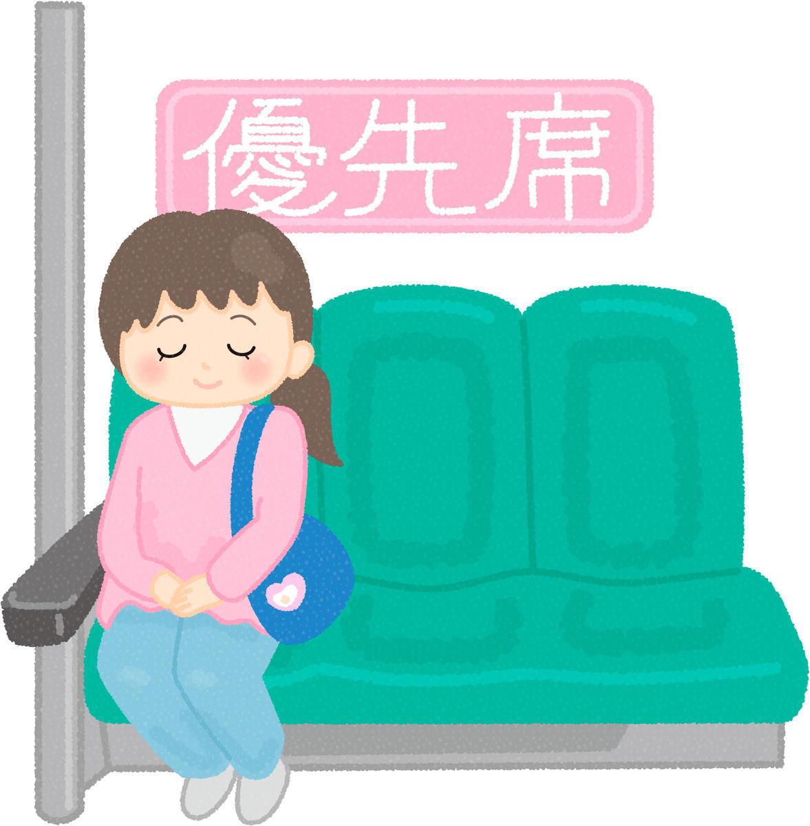 優先席に座る図々しい女性…と勘違いしてしまった
