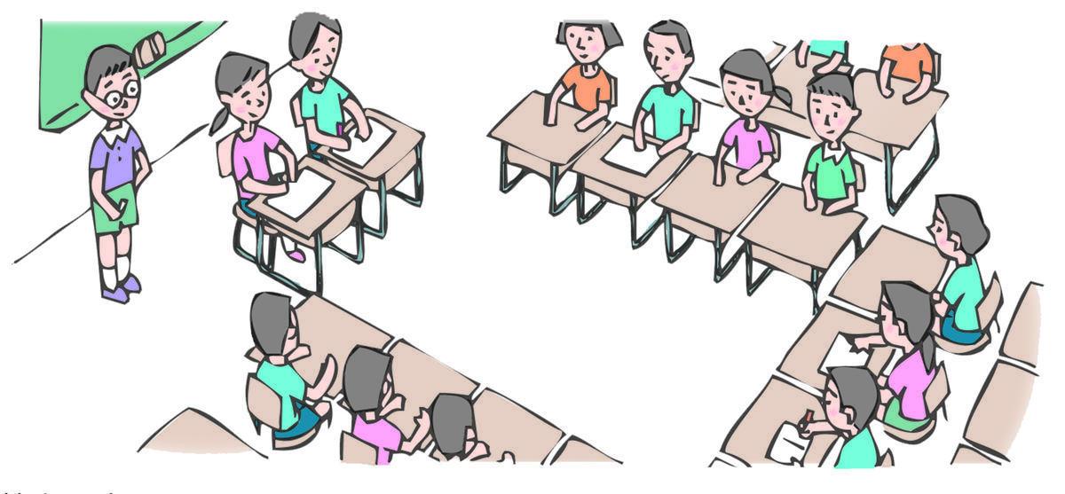 学級や生徒会の討議