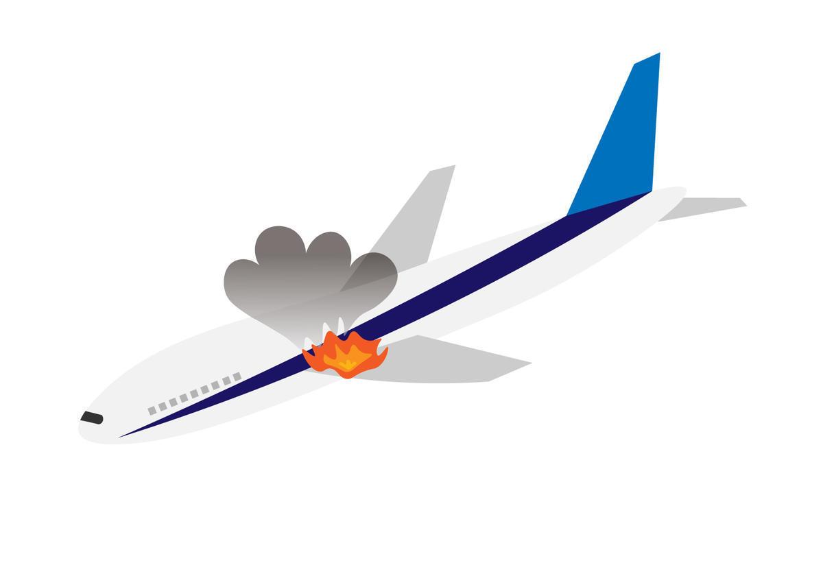 飛行機墜落