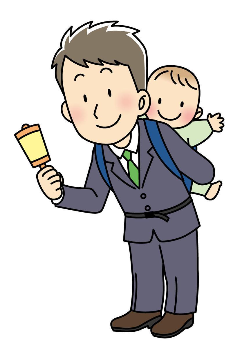 育児をするパパ
