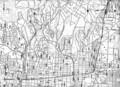 昭和27年 西宮市街地図(部分) 大社中学校が二つある